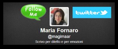 Profilo Twitter di Maria Fornaro